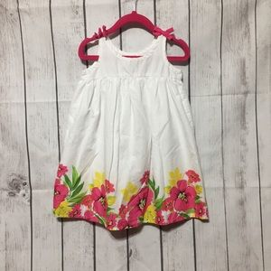 The Childrens Place Dress White Floral Girls 3T